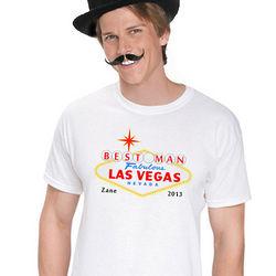 Personalized Las Vegas Best Man T-Shirt