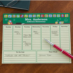 Teacher's Little Learners Personalized Desk Pad Planner