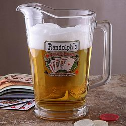 Poker Room Personalized Pub Pitcher