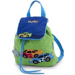 Race Car Quilted Backpack