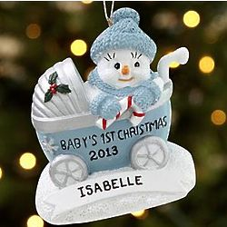 Personalized Original Snow Buddies Baby's First Ornament