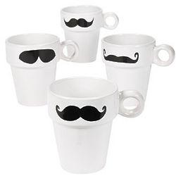 White Mustache Mugs