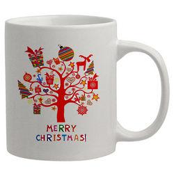 Tree with Christmas Icons Personalized Mug