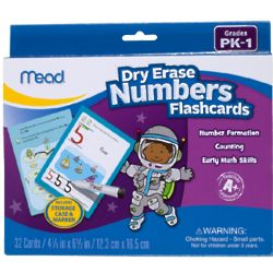 Dry Erase Flash Cards Grades for Pre-K through 1st Grade