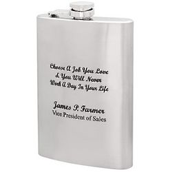 Choose a Job You Love Personalized Flask