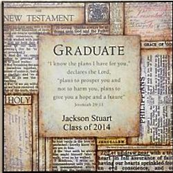 Personalized Bible Pages Graduate Plaque