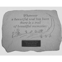 Wherever a Beautiful Soul Has Been Personalized Memorial Stone