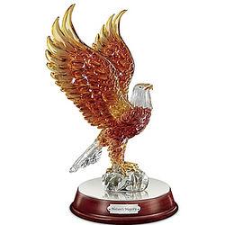 Art Glass Light Up Eagle Sculpture