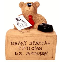 Personalized Bear Desk for Beary Best Optician