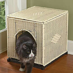 Wicker Litter Pan Cover