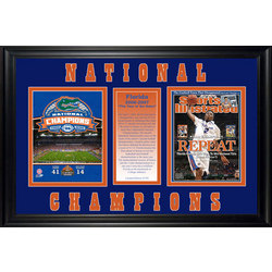 Florida Gators Framed 2007 NCAA Basketball Champs