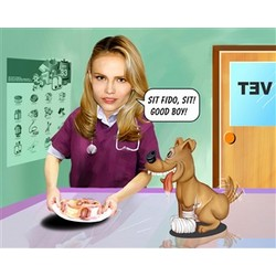 Veterinarian Caricature from Photos