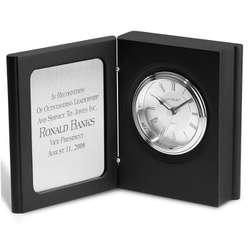 Black Matte Book Clock