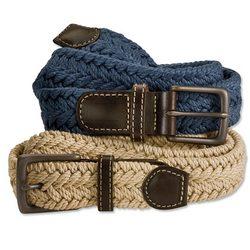 Braided Italian Linen Belt