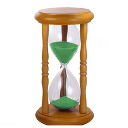 5 Minute Hourglass Sand Timer with Green Sand