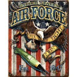 US Air Force Fighting Eagle Vintage Steel Wall Sign