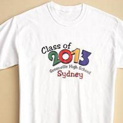 Personalized Graduation Autograph T-Shirt