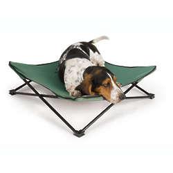 Green Breezy Bunk Portable Dog Bed