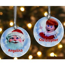 Personalized Santa Claus Is Comin' To Town Christmas Ornament