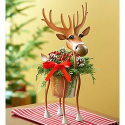 Happy Holidays Reindeer Planter