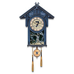 Mickey Mantle Yankees Cuckoo Clock