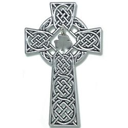 Celtic Knot Wall Cross with Shamrock