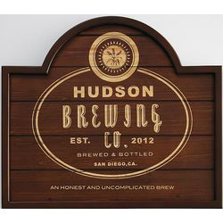 Home Pub Barley Wooden Sign