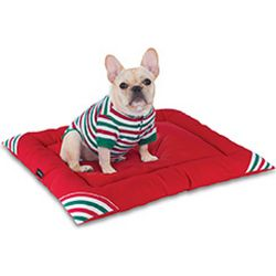 Holiday Stripe Pet Bed