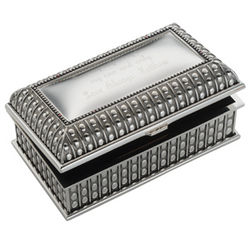 Engravable Beaded Antique Box