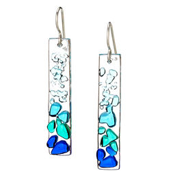 Handcrafted Shattered Glass Earrings