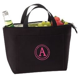 Personalized Lunch Tote with Circle Single Initial