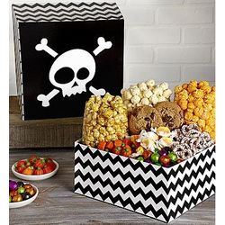 Skulls Popcorn and Sweets Sampler Gift Box