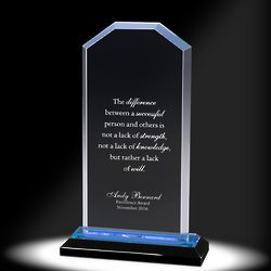 "Blue Cornerstone Reflection Acrylic 6.5"" Award"