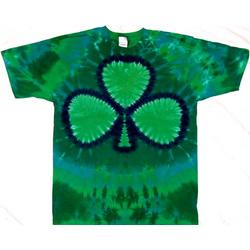 Green Shamrock Irish Tie Dye Tee Shirt