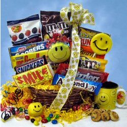 Sweet Smile Candy Gift Basket