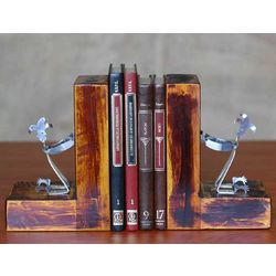 Harlequin Recycled Aluminum Bookends
