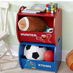 Personalized Sesame Street Stackable Storage Cubbies