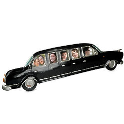 Black Limo Wedding Picture Frame