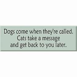 Customized Cats Take A Message Sign