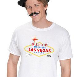 Personalized Las Vegas Usher T-Shirt