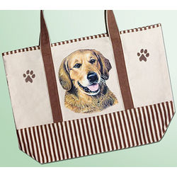 Golden Retriever Canvas Tote