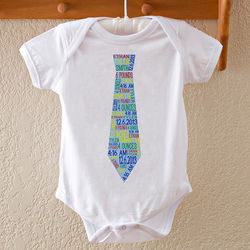Boy's Personalized Dressed for Success Baby Bodysuit