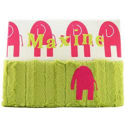 Personalized Pink Elephants Nursery Wall Art