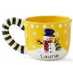 Snowman Candy Cane Mug