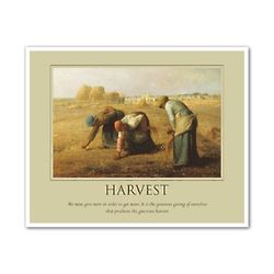 Harvest Oil Painting Personalized Art Print