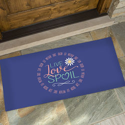 Grandparent's Personalized Live, Love, Spoil Oversized Doormat