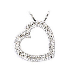 All Diamond Slide Heart Pendant