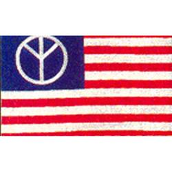 3 X 5 USA Flag with Peace Sign