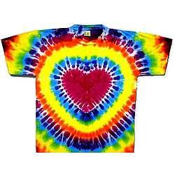 Rainbow Heart Tie Dye T Shirt
