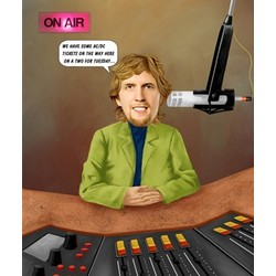 Radio DJ Caricature from Photo